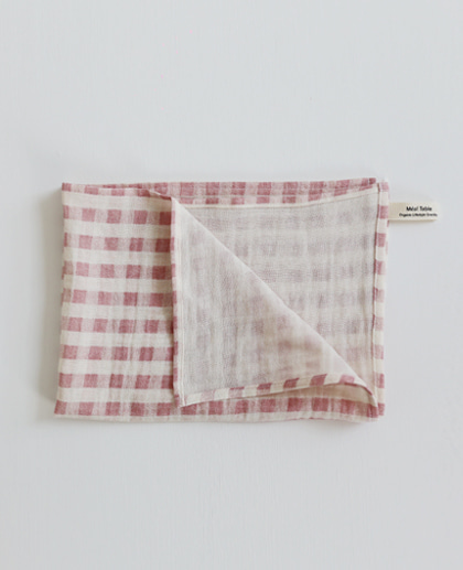 Meal Table Check Kitchen Cloth (pink)