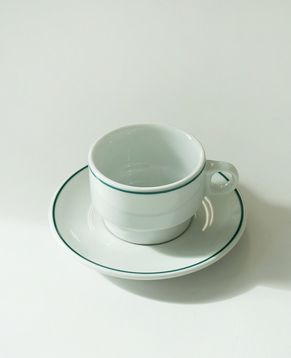 (2차 재입고) Porvasal Coffee cup&saucer set (210ml)
