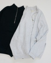 (BEST) Mild Half Zip-Up (2color)